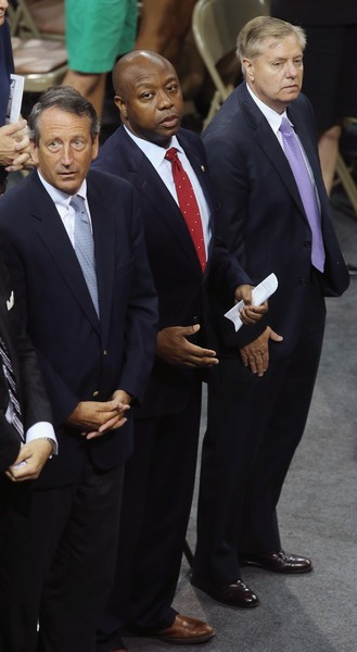 Lindsey Graham, Mark Sanford with Tim Scott