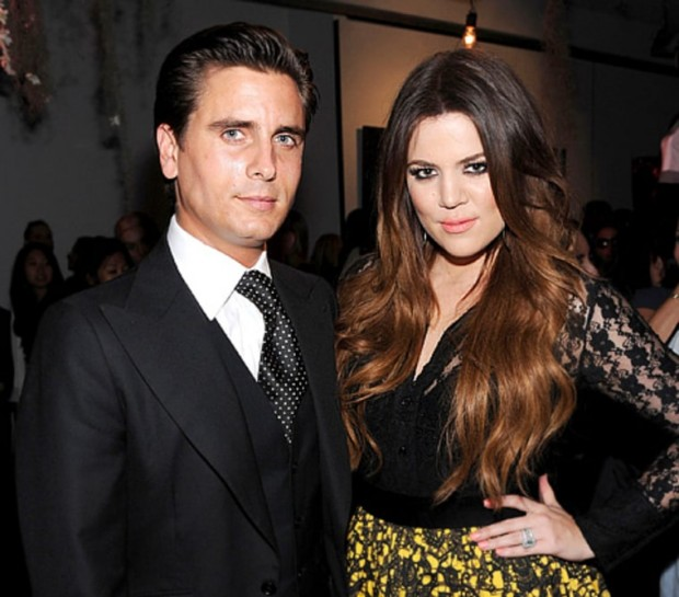 Scott Disick and Khloe Kardashian attend the Kardashian Kollection