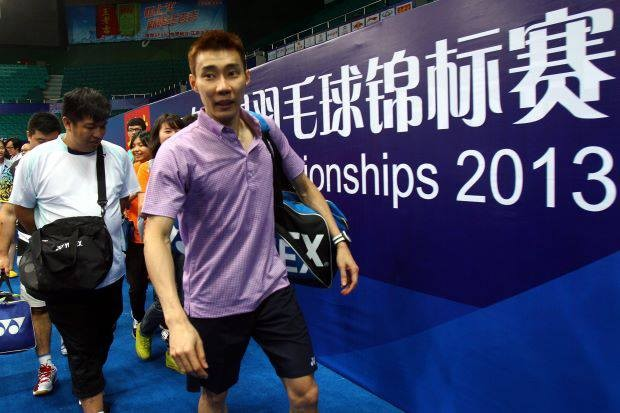 Lee chong wei in Guangzhou