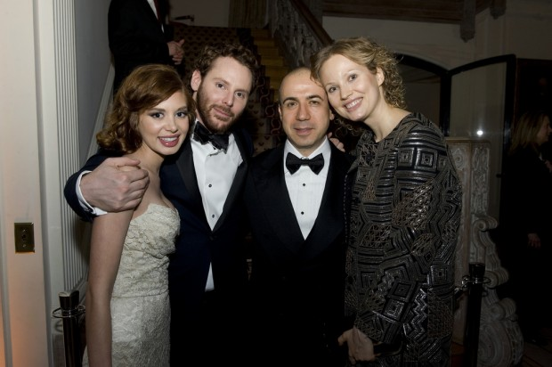 Sean Parker with Yuri and Julia Milner