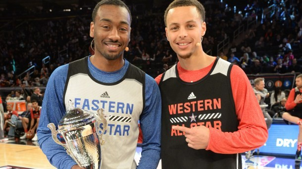 John Wall with Stephen Curry