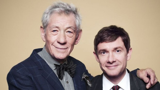 Sir Ian McKellen With Martin Freeman