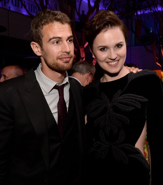 Theo James with Veronica Roth