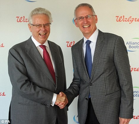 Stefano Pessina (left), Executive Chairman, Alliance Boots, With Greg