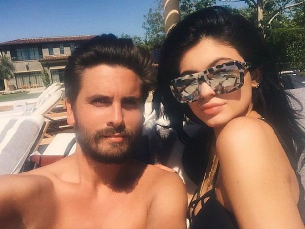 Kylie Jenner with Scott Disick