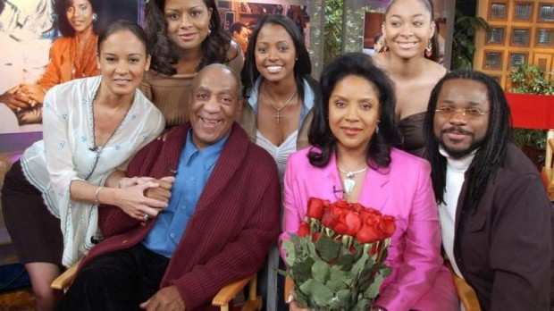 Keshia Knight Puliam with The Cosby Show cast