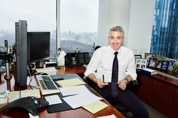 Bill Ackman in his office