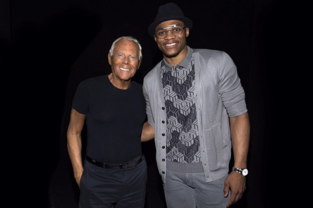 Russell Westbrook with Mr.Giorgio Armani