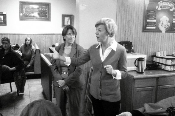 Tammy Baldwin at South Fork Cafe