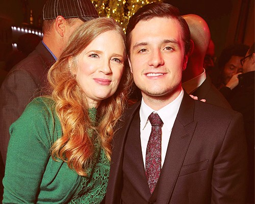 Suzanne Collins and Josh Hutcherson at The Hunger Games films LA premieres