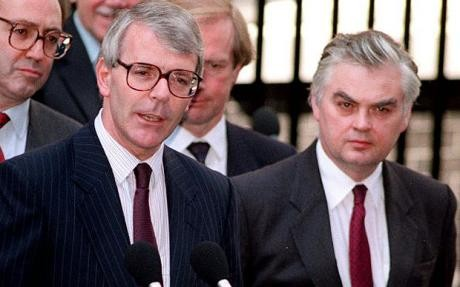John Major with Norman Lamont