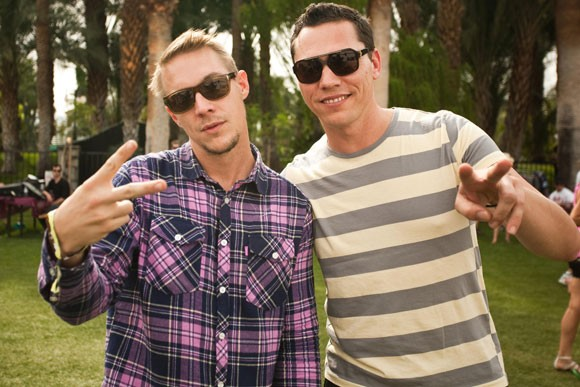 Tiesto with his friend Diplo