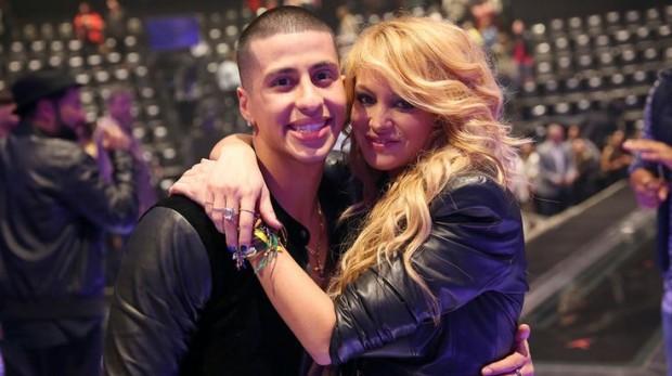 Carlito Olivero with Paulina Rubio