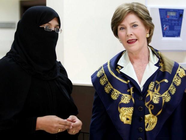 Laura Bush In Saudi Arabia