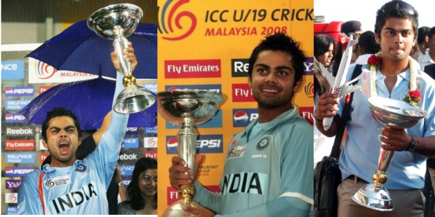 Kohli With U19 Trophy