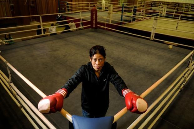 Mary Kom In Boxing Ring
