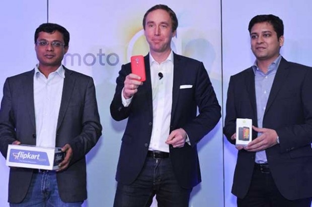 Sachin Bansal at Moto G Phone Launch