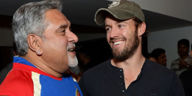 ABD with RCB Owner Vijay Malya