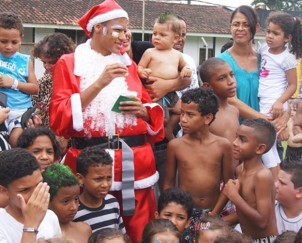 Neymar as Santa Claus
