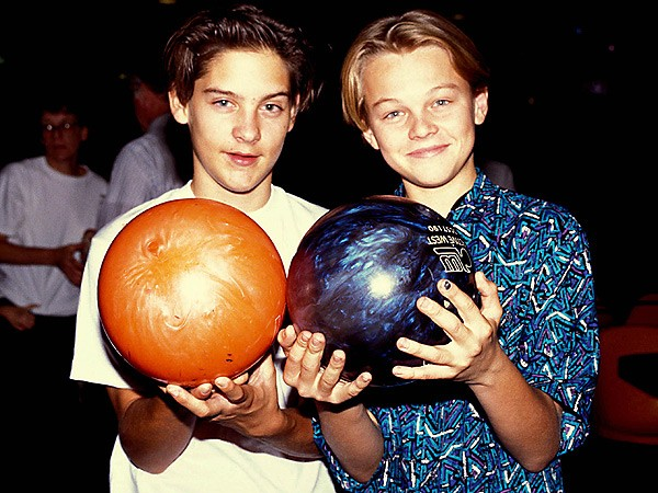 Leonardo Dicaprio With Tobey Maguire In His Childhood