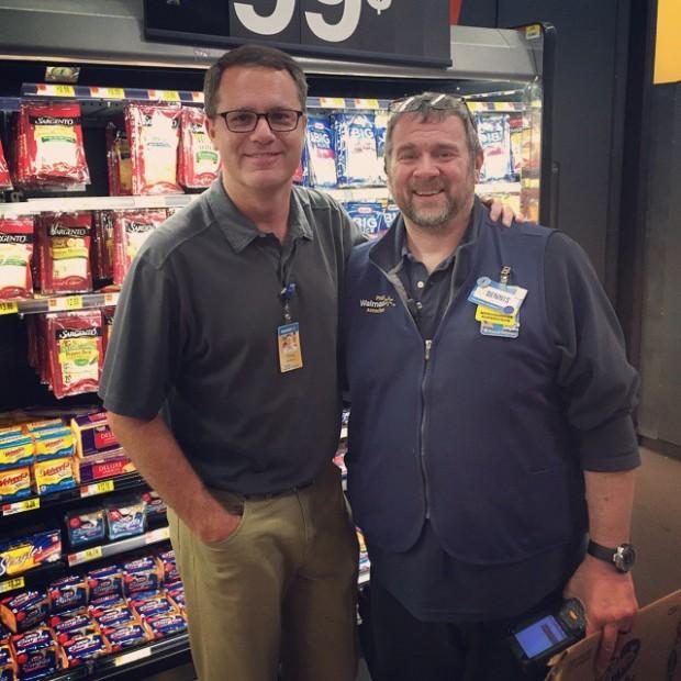 Doug McMillon at Walmart Store