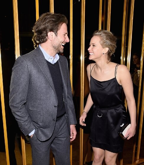 Bradley Cooper and Jennifer Lawrence at event of Serena