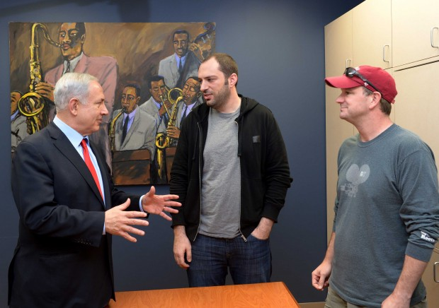 Brian and Jan with Israeli Prime Minister Benjamin Netanyahu