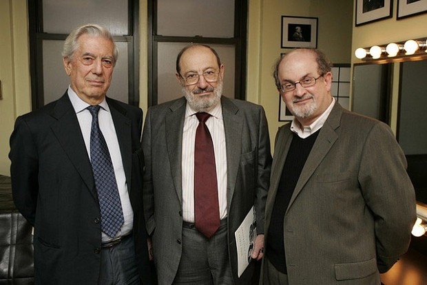 Umberto Eco With Salman Rushdie and Mario Vargas Llosa
