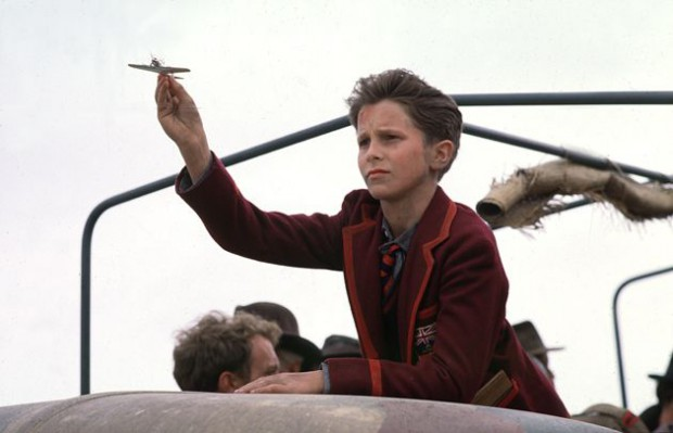 Christian Bale as Child Artist in Empire of the Sun Movie