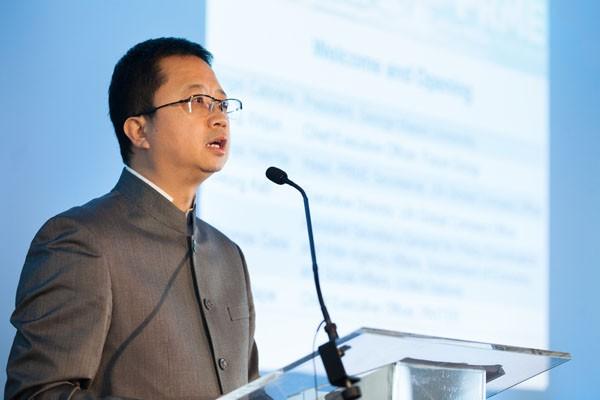 Liang Xinjun at Business  Conference