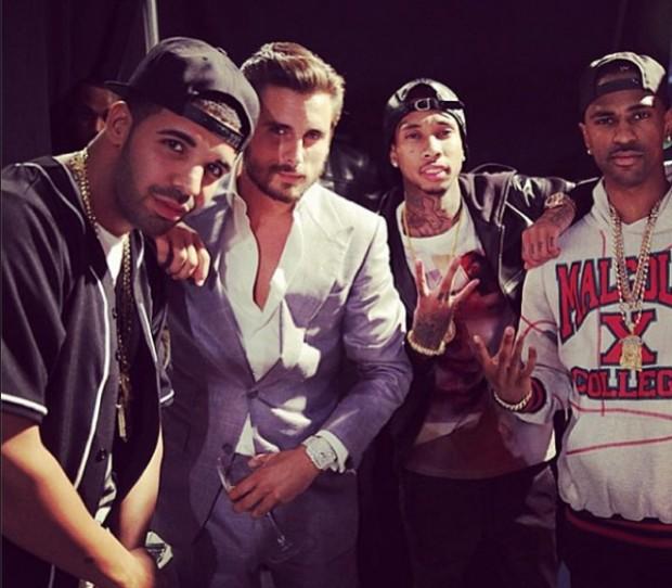 Tyga with Drake