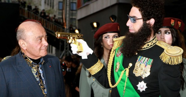 Mohamed Al-Fayed With Sacha Baron Cohen