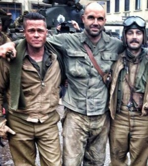 "Brad Pitt, Logan Lerman & Shia LaBeouf Appear In On-Set Peek At ""Fury"""
