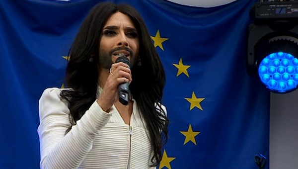 Conchita Wurst sings for Equality in the European Parliament