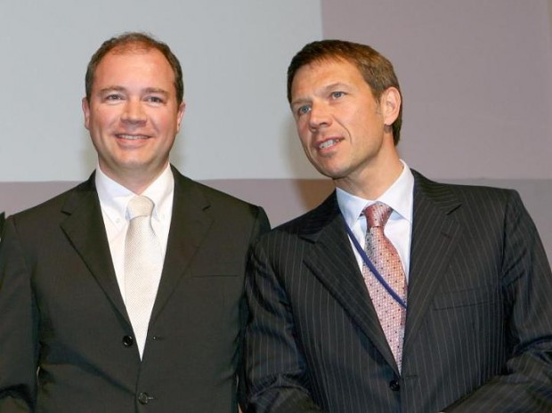 With Telekom Chef Rene Obermann