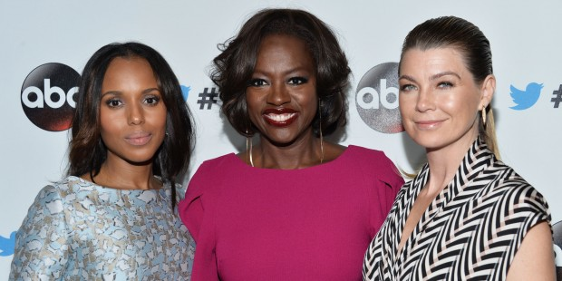 Ellen Pompeo, Viola Davis And Kerry Washington At  abc
