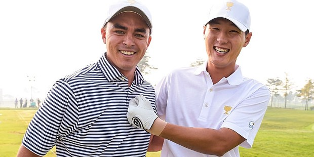 Rickie Fowler With NZ Golfer Danny Lee
