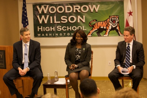 Timothy Geithner At wilson high school
