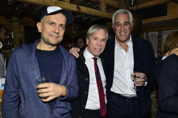 Marc Quinn, Tommy Hilfiger and Lawrence Stroll