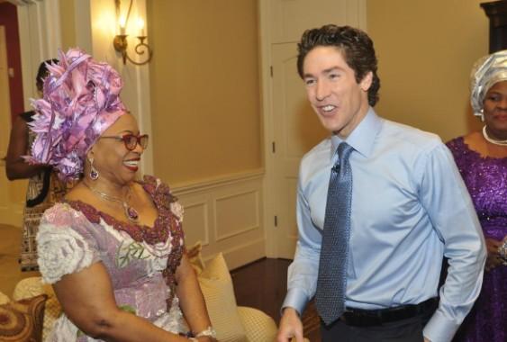 Nigerian Billionaire oil magnate, Mrs Folorunsho Alakija recently met with world renowned pastor, Joel Osteen
