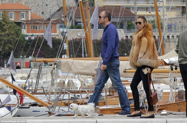 Andrey and Aleksandra Melnichenko At Yatch Visiting