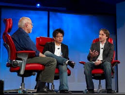 Walt Mossberg, Steve Chen With Chad Hurley