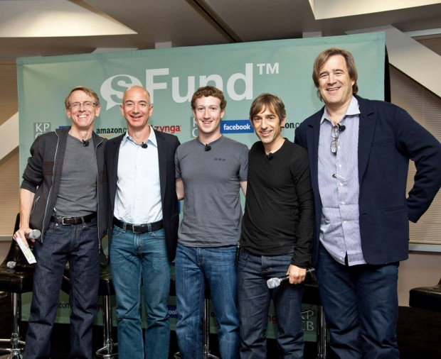 John Doerr, Jeff Bezos, Mark Zuckerberg, Mark Pincus and Bing Gordon