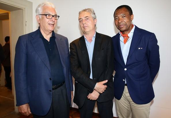Paolo Baratta, Stefano Boeri With Okwui Enwezor