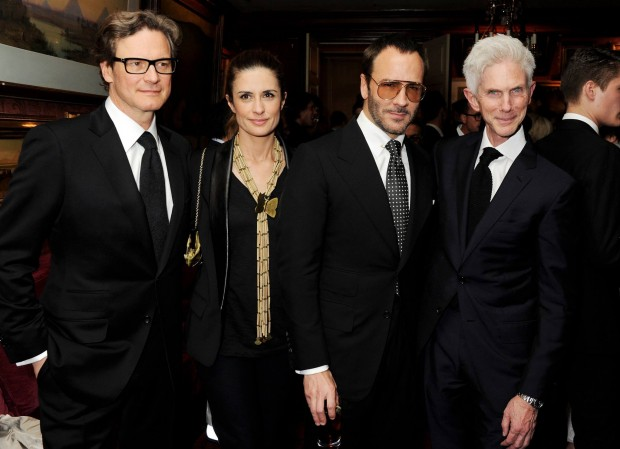 Tom Ford with Colin Firth Livia Firth and Richard Buckley Tom Ford Launches Mens Grooming Line