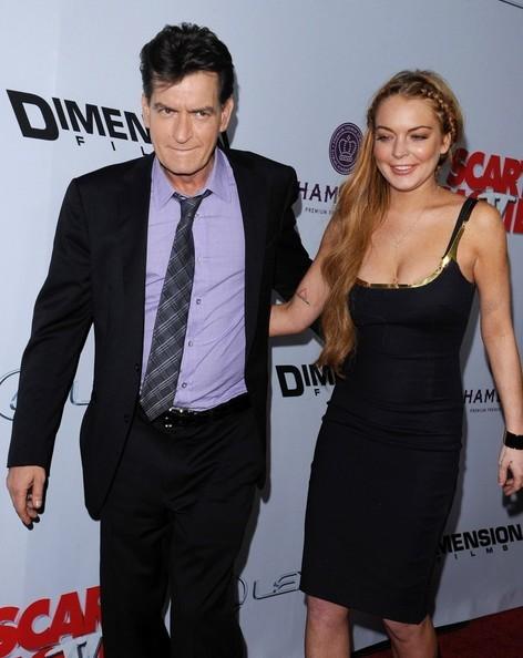 Lindsay Lohan with  Charlie Sheen