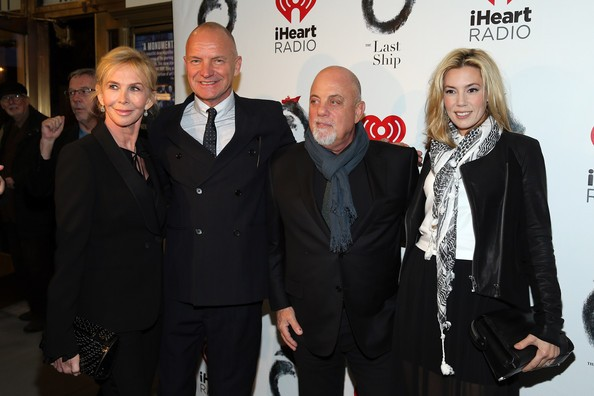 Sting, Billy Joel, Trudie Styler with Alexis Roderick
