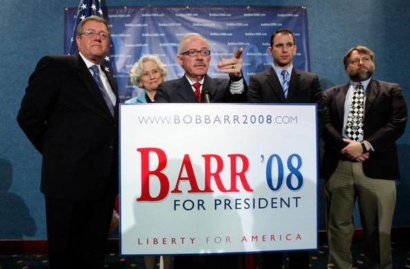 Bob Barr, Jeri Barr, Derek Barr with Russ Verney