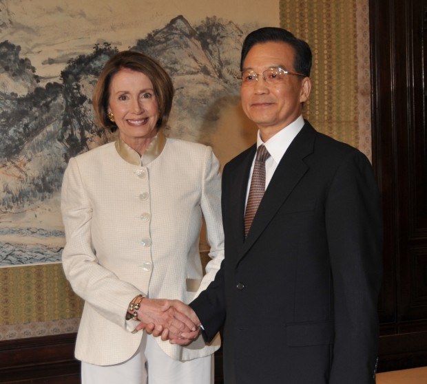 Pelosi with Chinese Premier Wen Jiabao