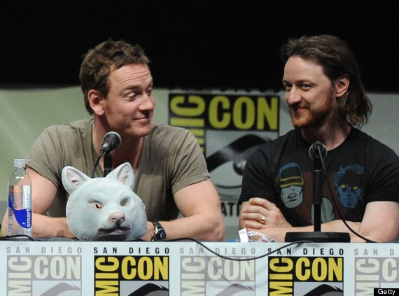 Michael Fassbender with James Mcavoy at Comic Con